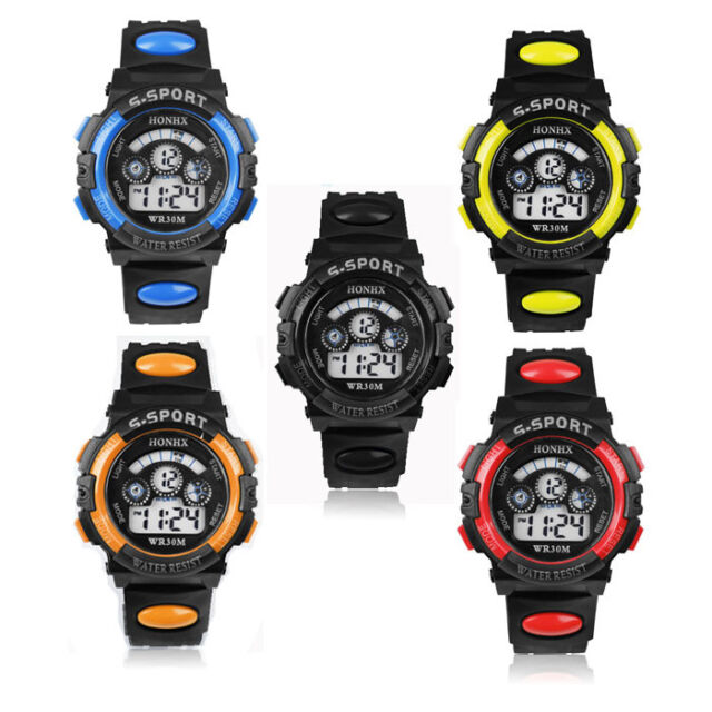 2015 Popular Mens Boy's LED Sports Watches Digital Quartz Alarm Date Wrist Watch