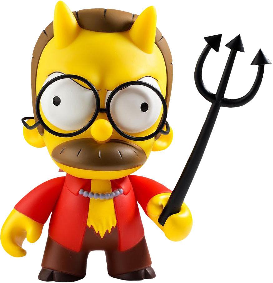 Los Simpsons-Diablo Flandes 7  figura de vinilo (Kidrobot)  NEW