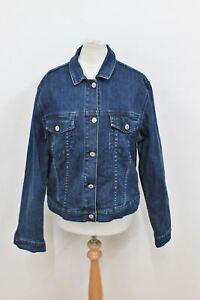 scuro Monday Denim Ladies a Button Jacket maniche L taglia Blue lunghe Cotton Cheap Atnxqfwn