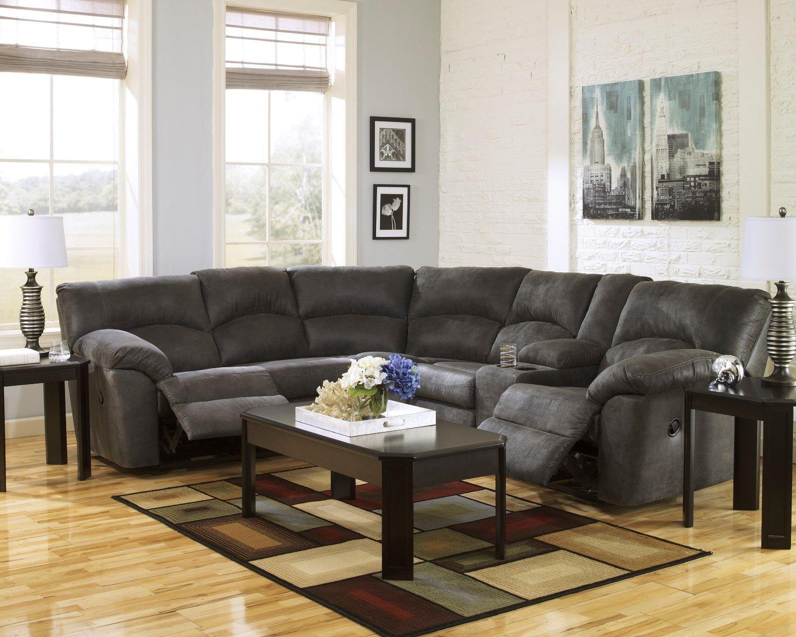 Phenomenal Ashley Furniture Tambo Pewter 2 Piece Reclining Sectional Download Free Architecture Designs Fluibritishbridgeorg