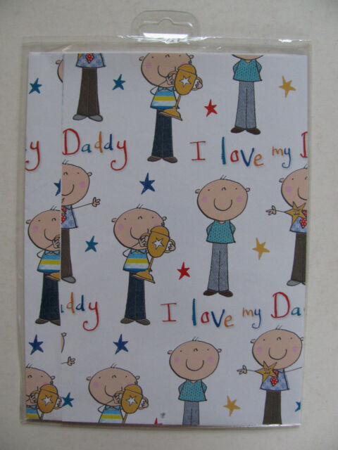 Giftwrap 2 Gift Wrap & 2 Tags Sheets Birthday Occasion Style Boy Girl Man Woman