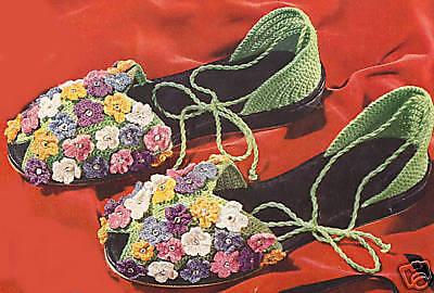 Crochet Flower Slippers Sandals Soft Shoes Pattern