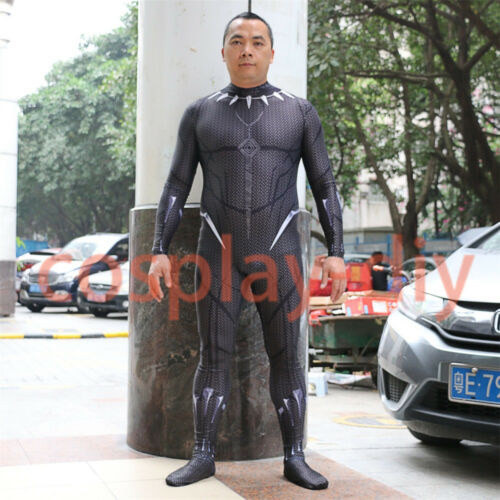 2018 Movie Black Panther Gloves Costume Cosplay Superhero Mask Full Set New