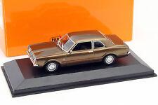 Ford Taunus año de construcción 1970 marrón metalizado 1:43 Minichamps