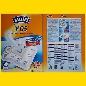 4-Beutel-Swirl-Y-05-MicroPor-Staubsaugerbeutel-Y05-frei-Haus-Warensendung
