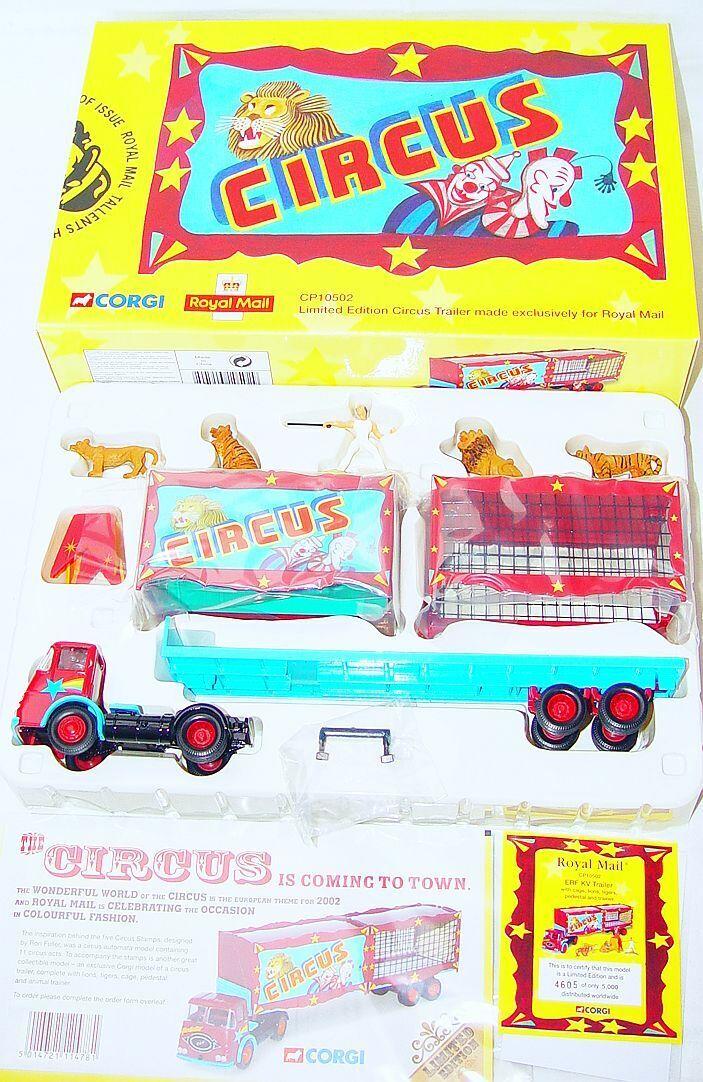 Corgi Toys ROYAL MAIL TALLENTS HOUSE EDINBURGH CIRCUS LION TAMER Car Figure Set
