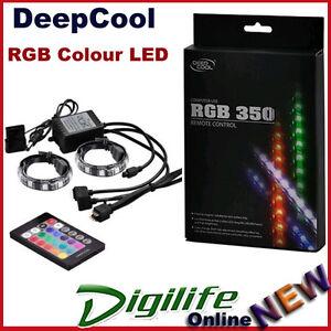 deepcool rgb 350 magnetic colour led strip w remote. Black Bedroom Furniture Sets. Home Design Ideas