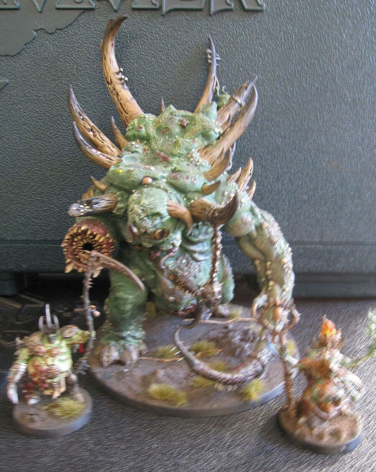 Warhammer Chaos Nurgle Age of of of Sigmar Glottkin bredhers well painted 711