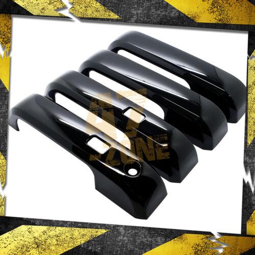For 15-16 Ford F150 4 Door Smart Key Black ABS Plastic Overlay Door Handle Cover