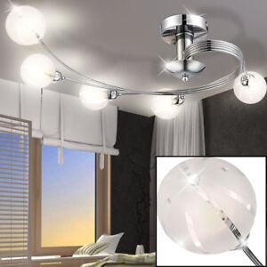 LED Design Decken Leuchte Glas Kugel Spot Küchen Lampe Haus Flur ...