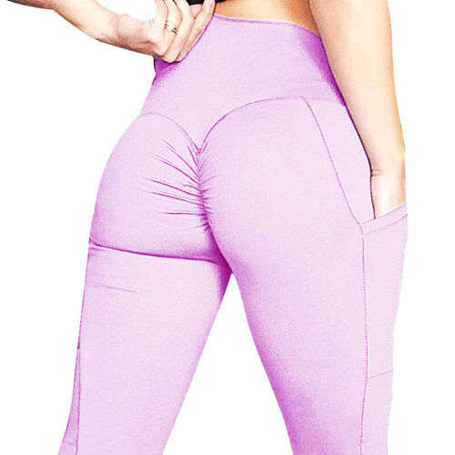 Damen High Waist Leggings Yoga Gym Fitness Sport Hosen Jogginghose Leggins 34-40