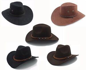 Gutherzig Western Cowboyhut Hut Leder Hutband Cowgirl Hutschnur Westernhut Schwarz Braun