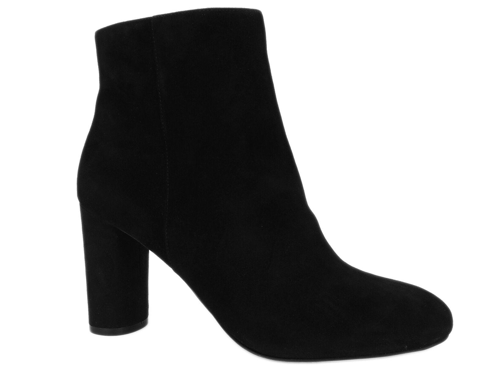INC International Concepts Taytee Block-Heel Boots Black Suede Size 10 M
