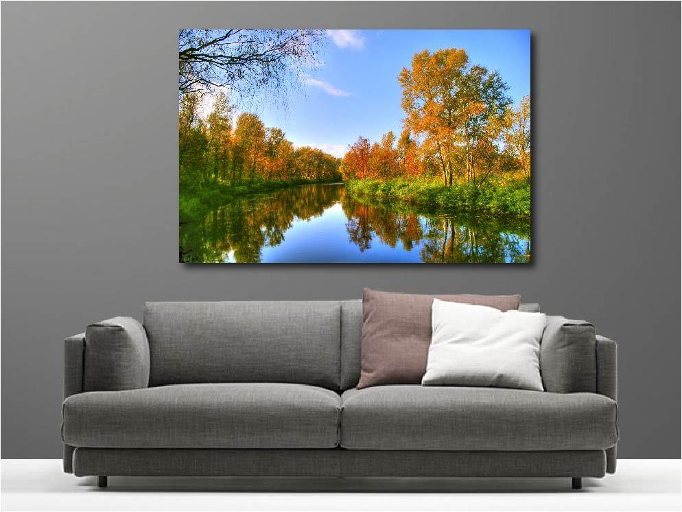 Gemälde Gemälde Deko Set Sicht auf dem Fluss Ref 1932608