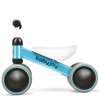 4 Wheels Baby Balance Bike Children Walker No-Pedal Toddler Toys Rides Blue