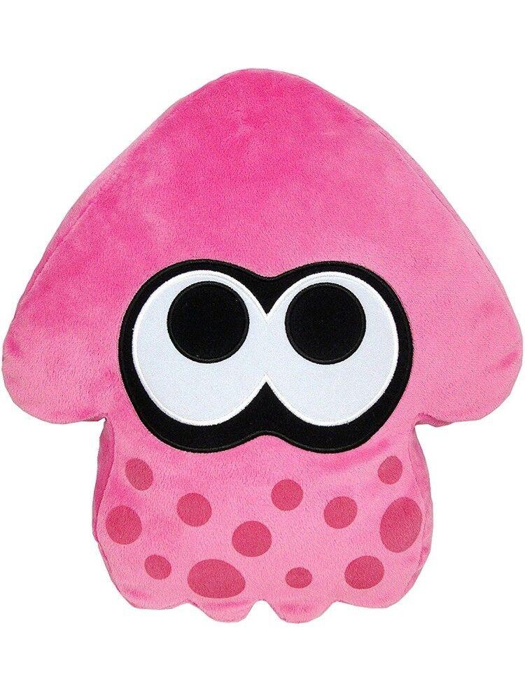 Sanei Boeki  35cm 13.77inch Splatoon 2 Squid Pink Plush Cushion