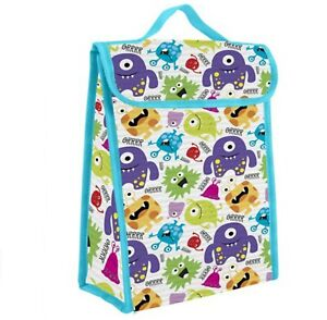 Boys Girls Monsters Insulated Lunch Bag Cool Box Kids