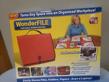 Wonderfile Portable Workstation Red New In Box As Seen On Tv Files Folder