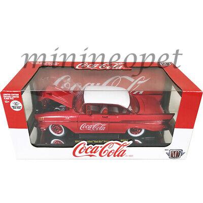 M2 Machines 1:24 Coca-Cola 1957 Chevrolet Bel Air Hardtop Diecast Car 50300-RW03