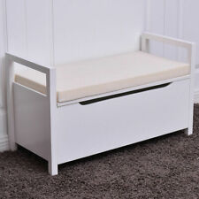 Amazing Loring Entryway Storage Bench White For Sale Online Ebay Cjindustries Chair Design For Home Cjindustriesco