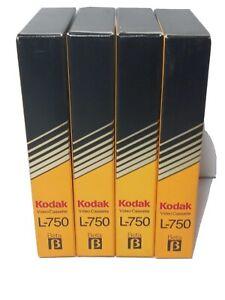 Kodak L-750 BETA Video Cassettes Prerecorded Sold As Blanks Lot of 4