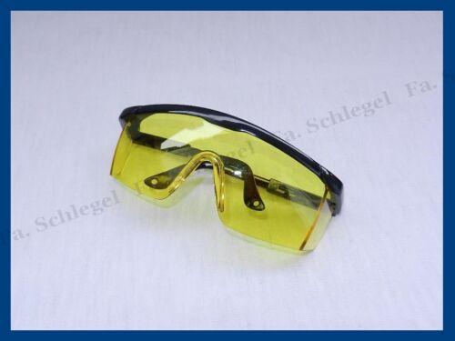 WOW Schutzbrille Arbeitsschutzbrille Gelb Arbeitsbrille Laborbrille