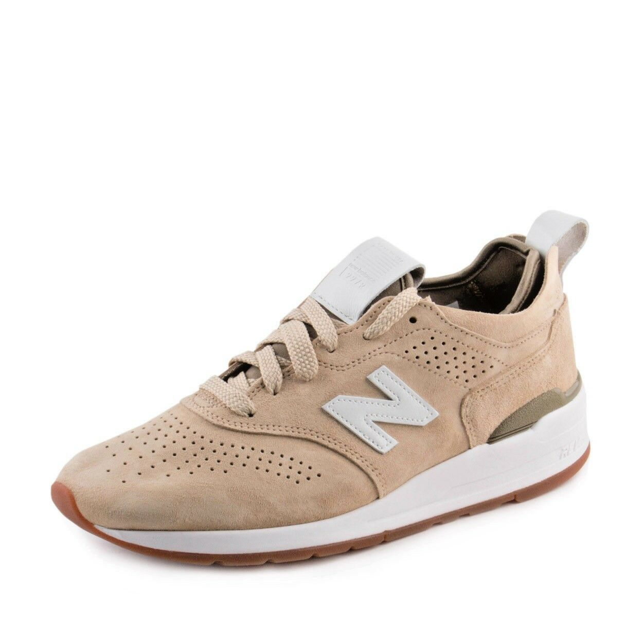 NEW BALANCE 997 M997DRA2 MADE IN USA  TAN   WHITE  SZ 6M   7.5W
