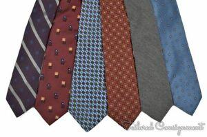 LOT-OF-6-HICKEY-FREEMAN-Colorful-Silk-Wool-Mens-Luxury-Tie-Ties-Set