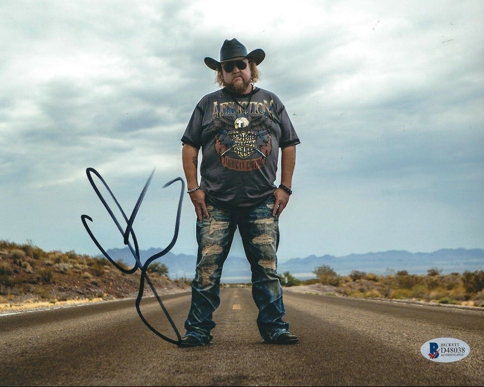 Colt Ford Signed 8x10 Photo *Dirt Road Anthem *Country Rapper BAS D48038