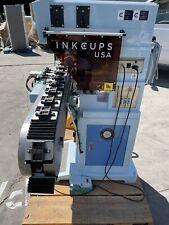 Ink Cups Inkcups Usa Pad Printing Machine 2 Color Linear Conveyor