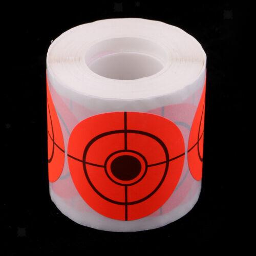 Rouleau fluorescent d'autocollant de cible du papier 250pcs pour le tir à