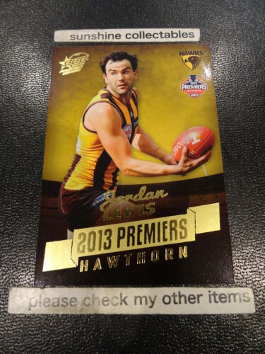2013 AFL PREMIERSHIP HAWTHORN CARD PC3 JORDAN LEWIS