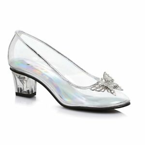 e69d2313b4caf Details about Clear Glass Slippers Princess Cinderella Elsa Costume Shoes  Child Girls 11 12 13