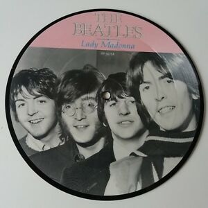 The-Beatles-Lady-Madonna-7-034-Vinyl-Picture-Disc-Single-20th-Anniversary-NM