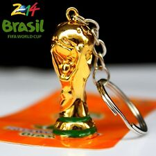 2014 Brazil World Cup Trophy Replica Soccer Football KeyChain Key ring Gift