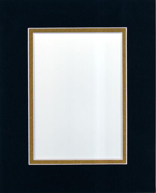 Golden State Art Pack of 20 11x14 Black/metallic Gold Double Mats ...