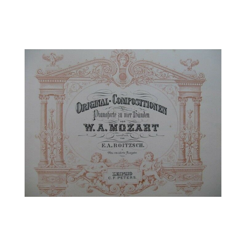 MOZART W. A. Original Compositionen Piano 4 mains XIXe partition sheet music sco