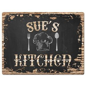Details About Pp2028 Sue S Kitchen Plate Chic Sign Home Room Kitchen Decor Birthday Gift