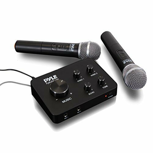 Sound Around Pyle Portable Home Theater Karaoke Microphone Mixer System Set w