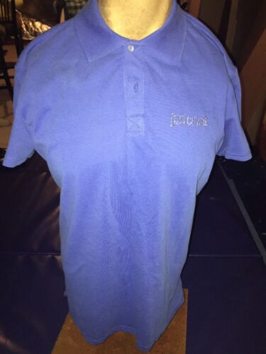 Large 100/% Cotton 50 NWT Just Cavalli Royal Blue Men/'s Polo Shirt Size