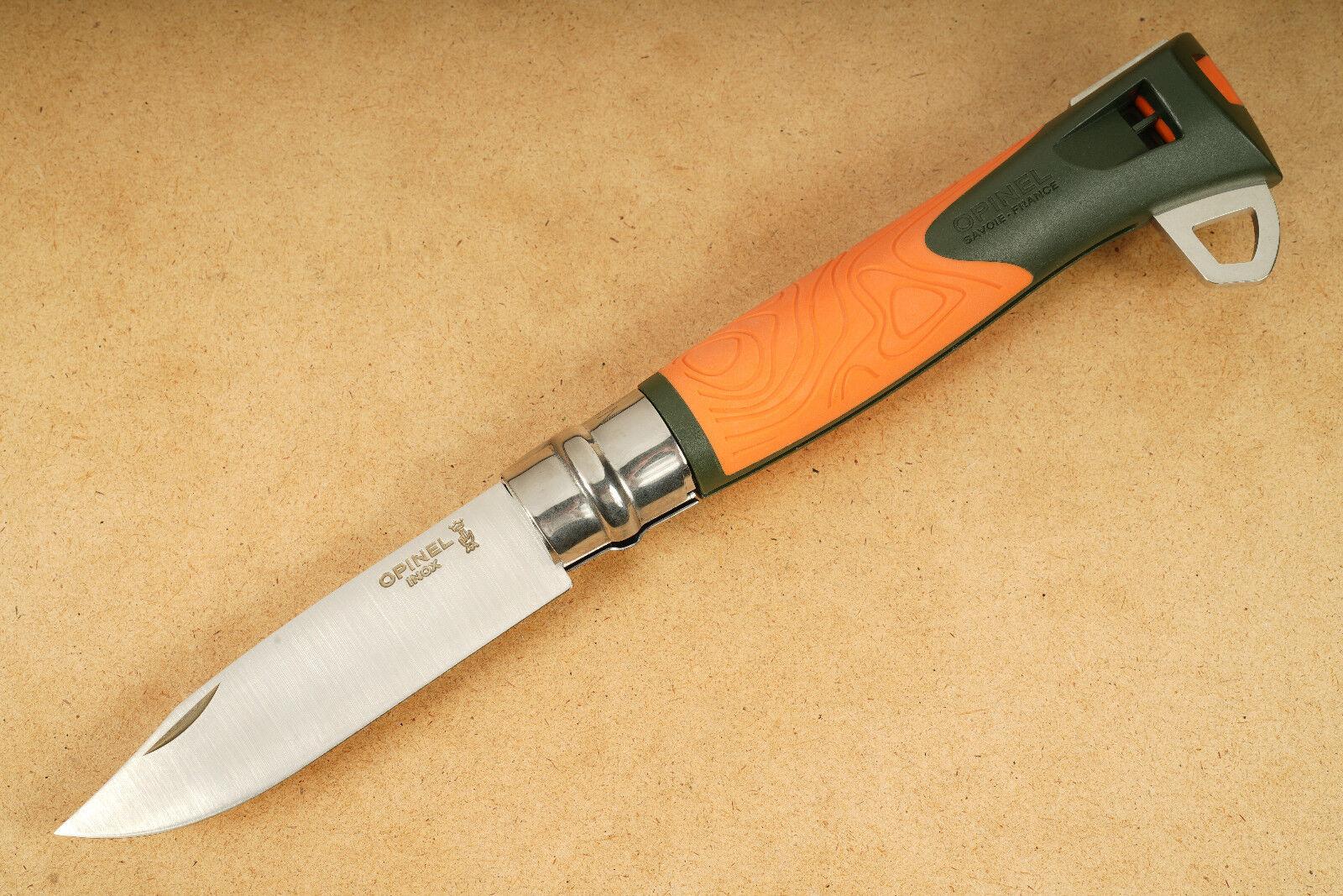 Opinel Taschenmesser Nr. 12 Explore Orange Outdoor Survival Sicherheitsmesser