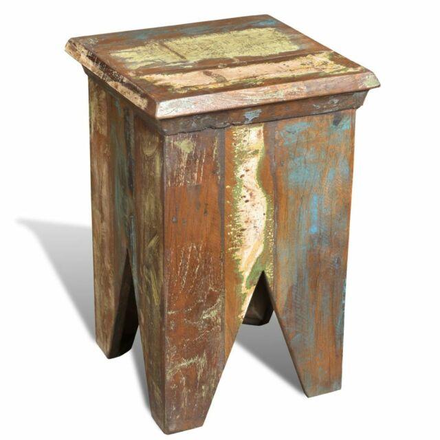Reclaimed Wood Elephant Table//Stool Hocker Solid Wood Rustic Western Lamp Table