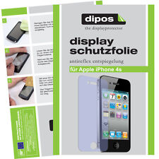4x Apple iPhone 4 + 4S Schutzfolie matt Displayschutz Folie Antireflex Passgenau