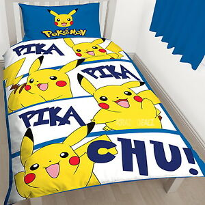 Pokemon-Action-Single-Panel-Duvet-Cover-Bed-Set-New-Gift-PikaChu-In-Stock