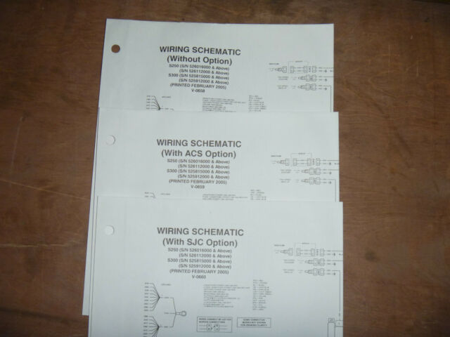 Bobcat S250 S300 Skid Steer Electrical Wiring Diagram Schematic Manual 526016000