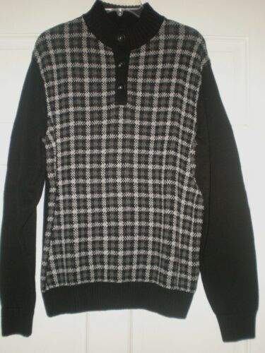 M costina L Hounds Nwt Chaps cotone Sweater con in bottoni di Doppiopetto Xl Black Mens q7xaO8W
