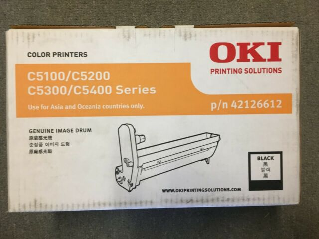 GENUINE OKI 42126612 Black Image Drum for C5100 C5200 C5300 C5400