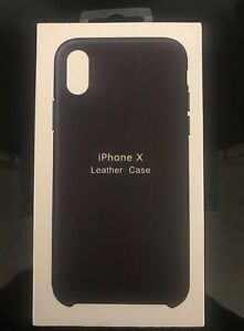 Custodia in finta pelle cover nera black per Apple Iphone 4 4G 4S...
