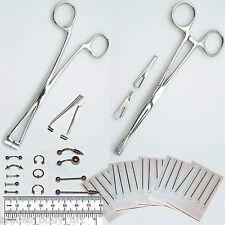 37pc Ear Lip Navel Tongue Body Pierce Forcep Septum Nose 14g+16g Jewelry Kit