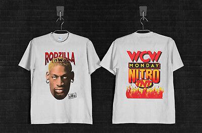 Vintage 90/'s Rodzilla T-shirt Dennis Rodman nWo WCW wwf wwe Tee 1998